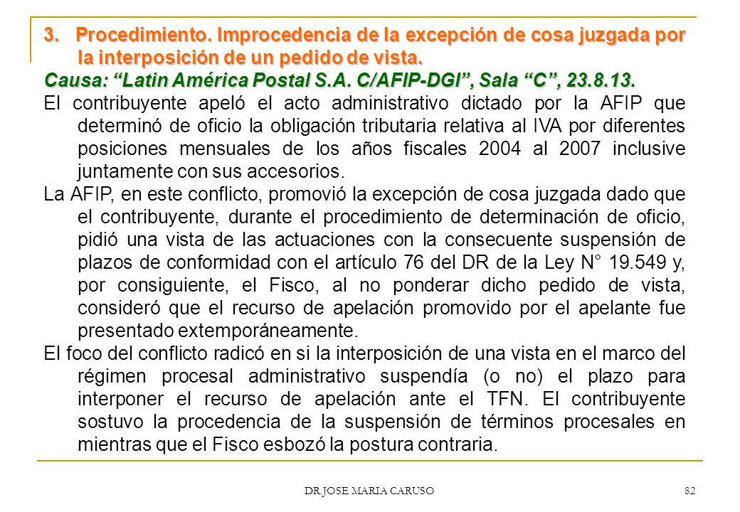 Causa: Latin América Postal S.A. C/AFIP-DGI , Sala C , 23.8.13.