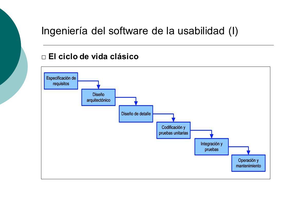 Ingeniería del software de la usabilidad (I)