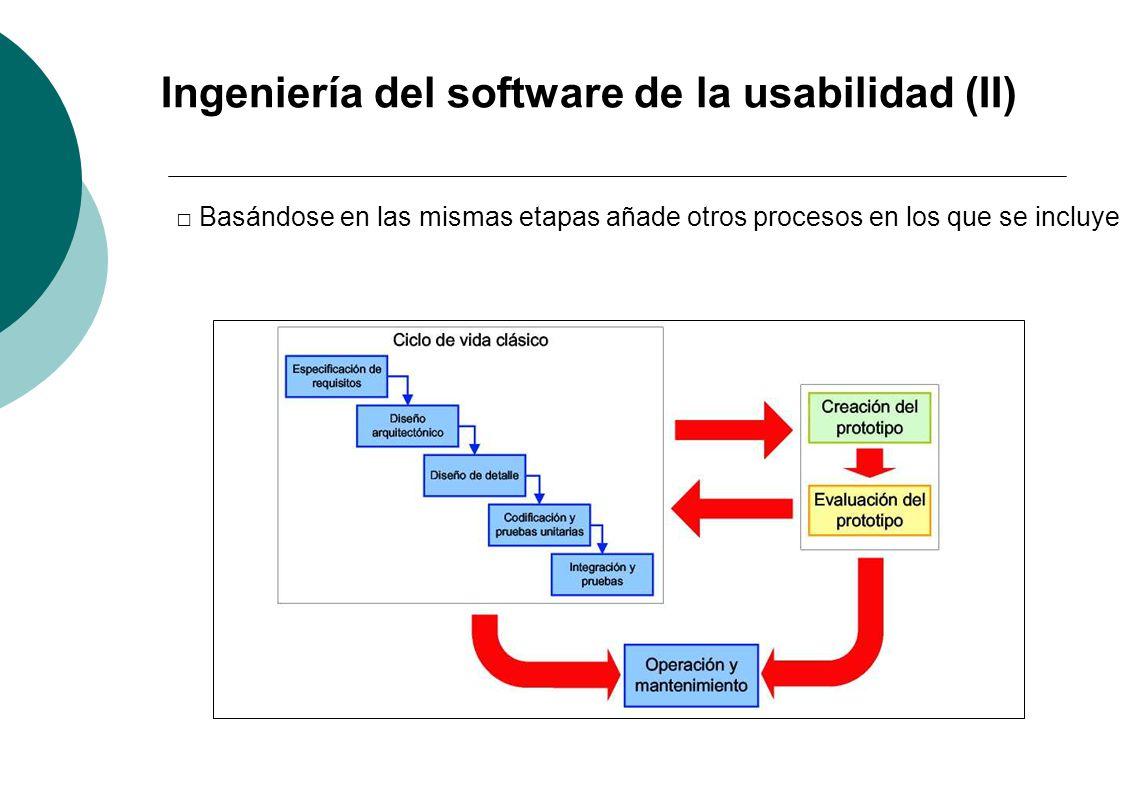 Ingeniería del software de la usabilidad (II)