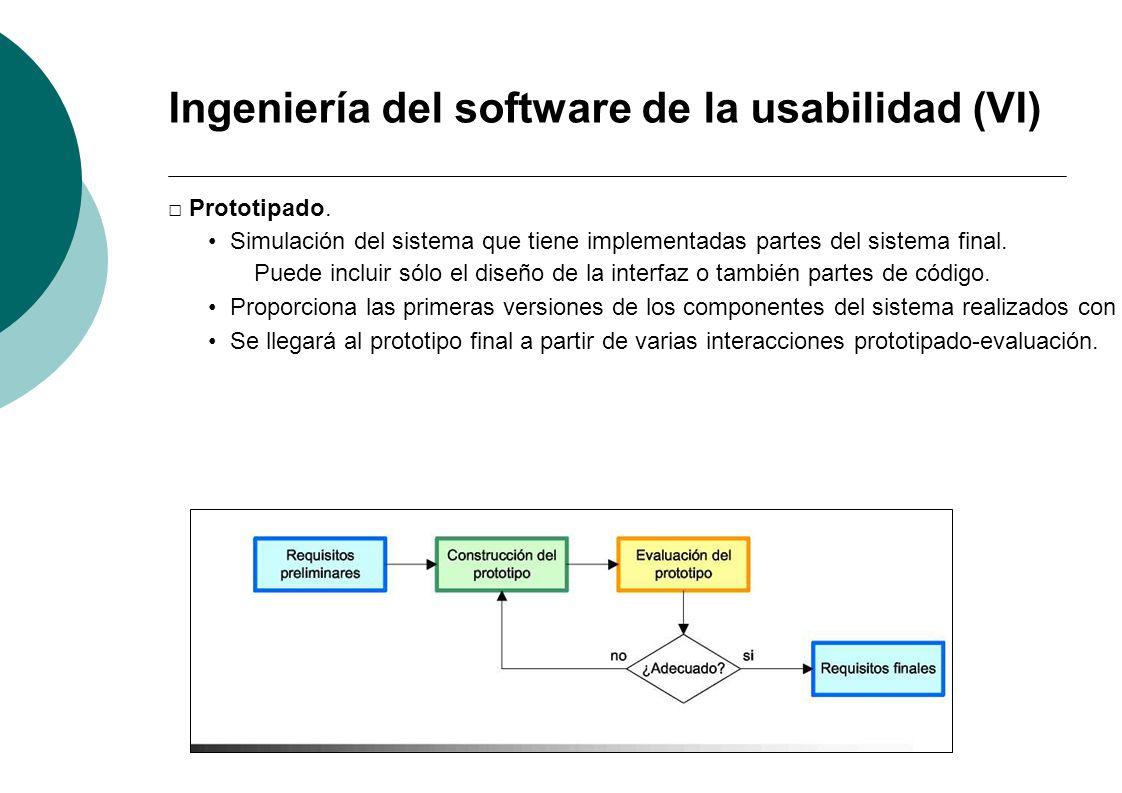 Ingeniería del software de la usabilidad (VI)