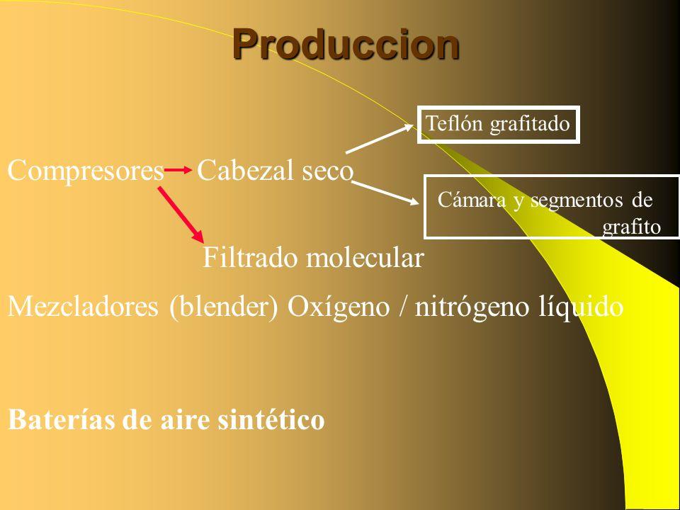 Produccion Compresores Cabezal seco