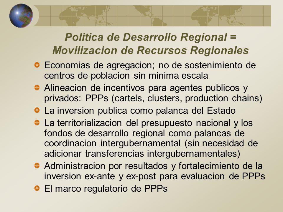 Politica de Desarrollo Regional = Movilizacion de Recursos Regionales
