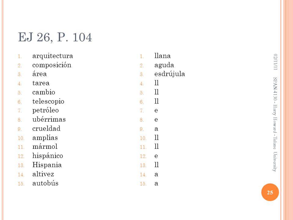 EJ 26, P. 104 arquitectura composición área tarea cambio telescopio