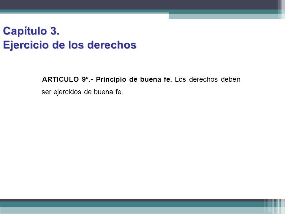 Capítulo 3. Ejercicio de los derechos