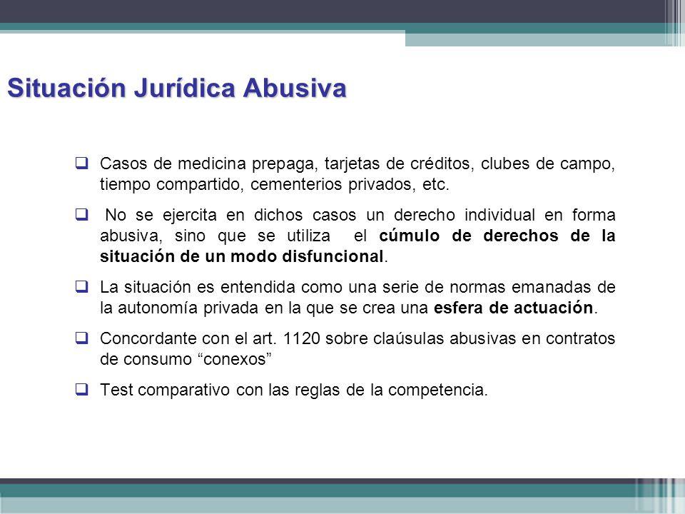 Situación Jurídica Abusiva
