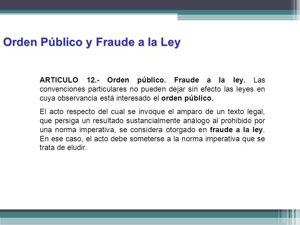 Orden Público y Fraude a la Ley