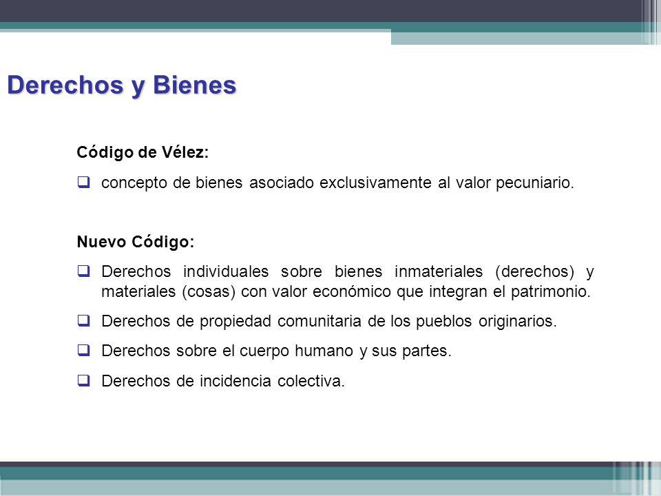 Derechos y Bienes Código de Vélez: