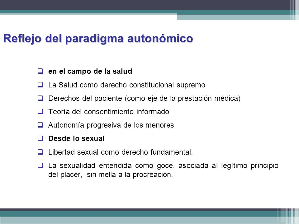 Reflejo del paradigma autonómico