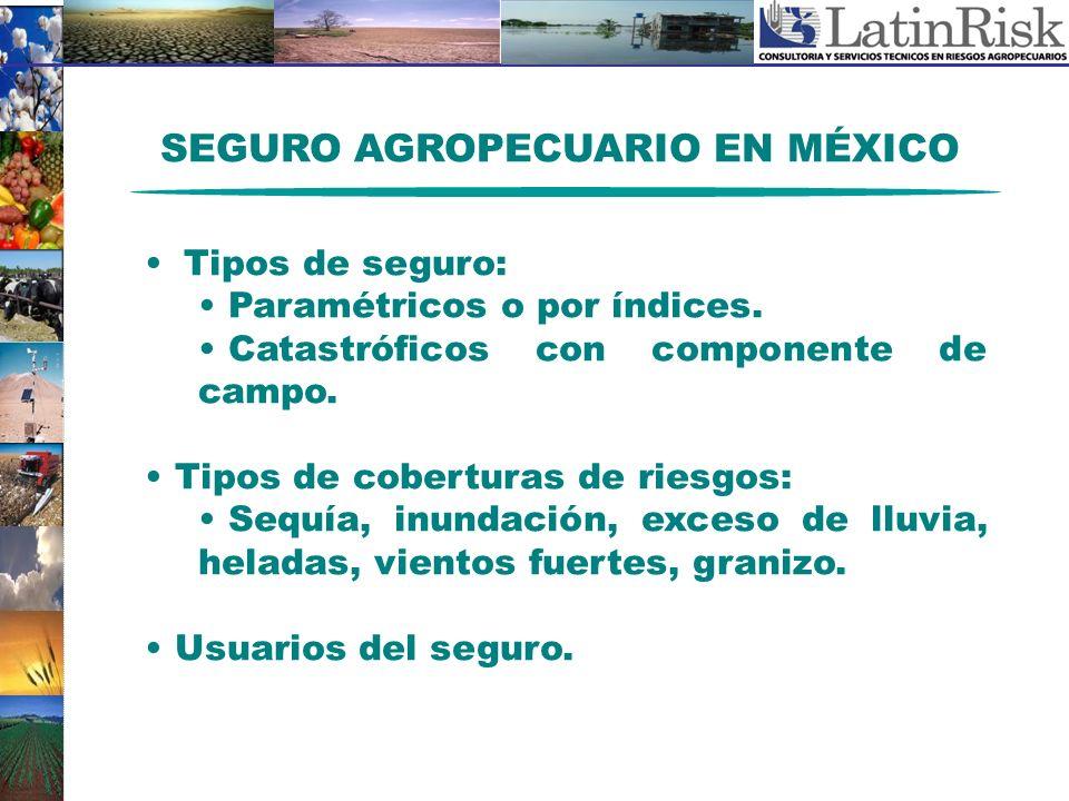 SEGURO AGROPECUARIO EN MÉXICO
