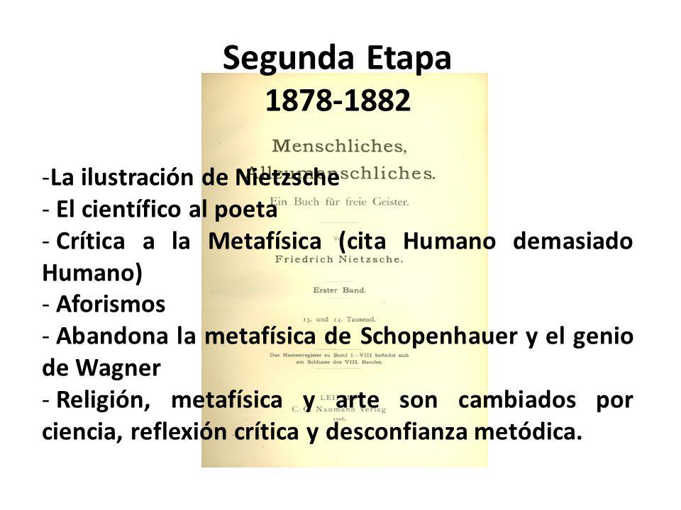 Segunda Etapa 1878-1882 La ilustración de Nietzsche