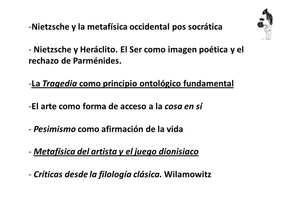 Nietzsche y la metafísica occidental pos socrática