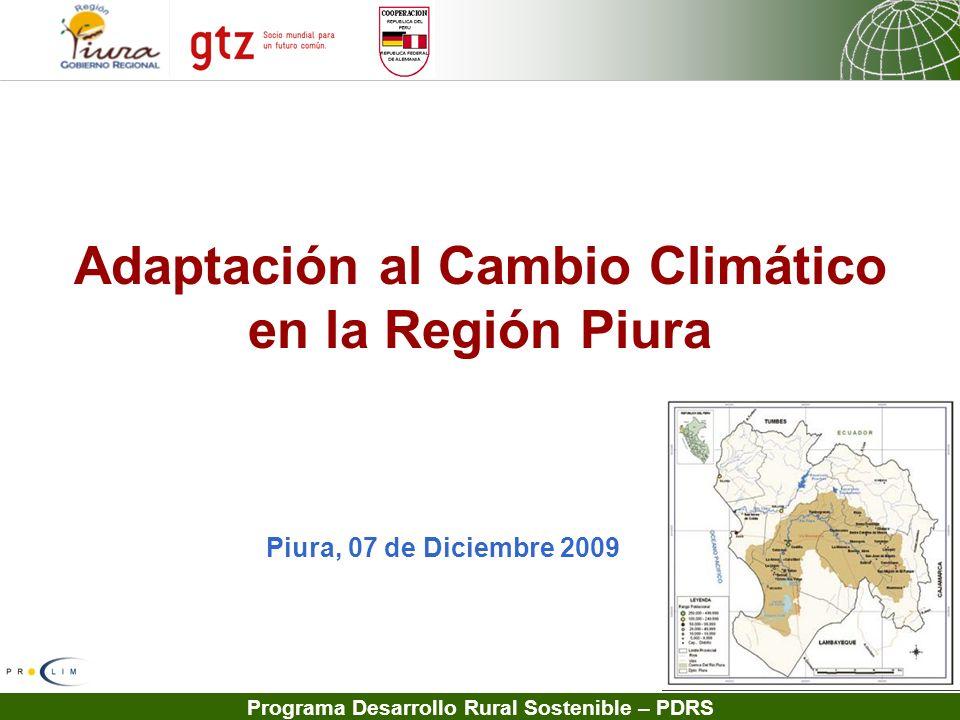 Adaptación al Cambio Climático en la Región Piura