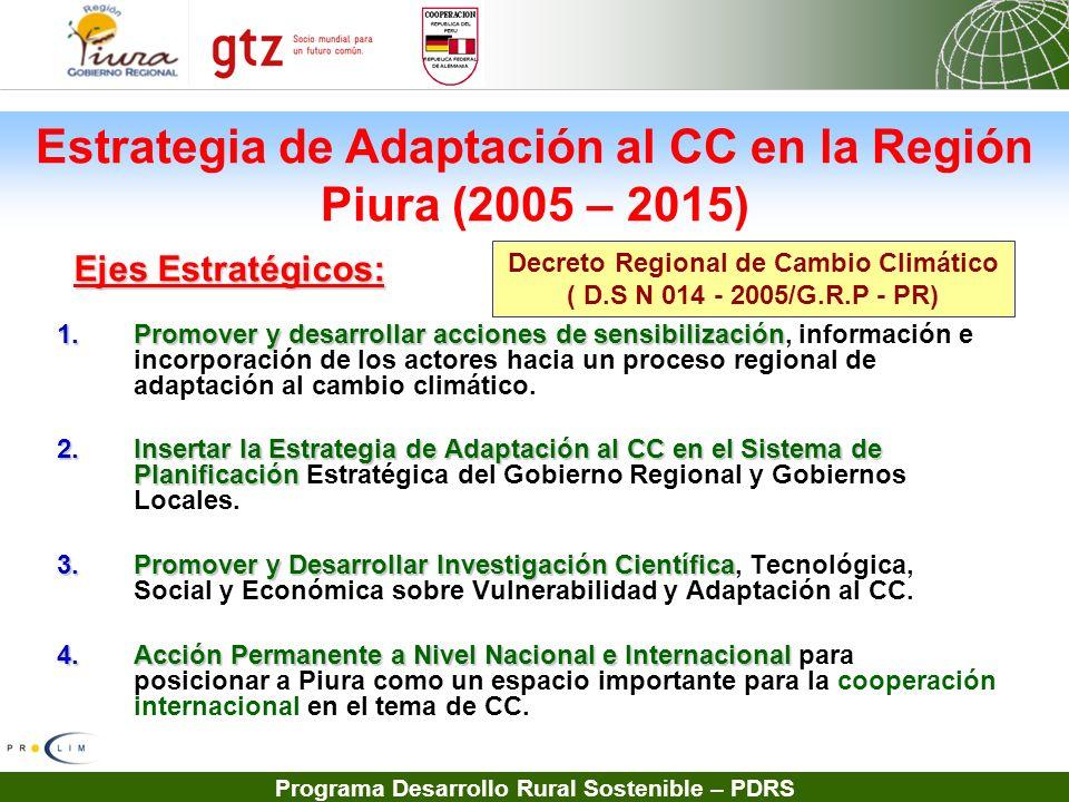 Estrategia de Adaptación al CC en la Región Piura (2005 – 2015)