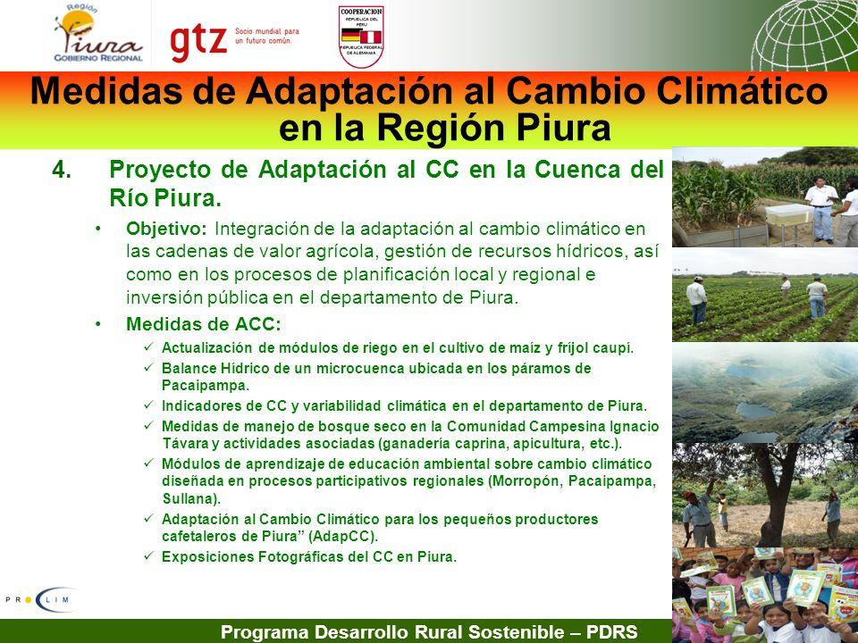 Medidas de Adaptación al Cambio Climático en la Región Piura