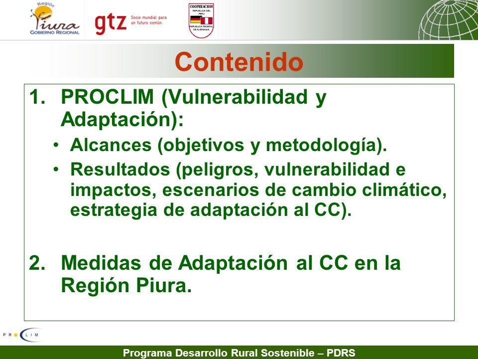Contenido PROCLIM (Vulnerabilidad y Adaptación):
