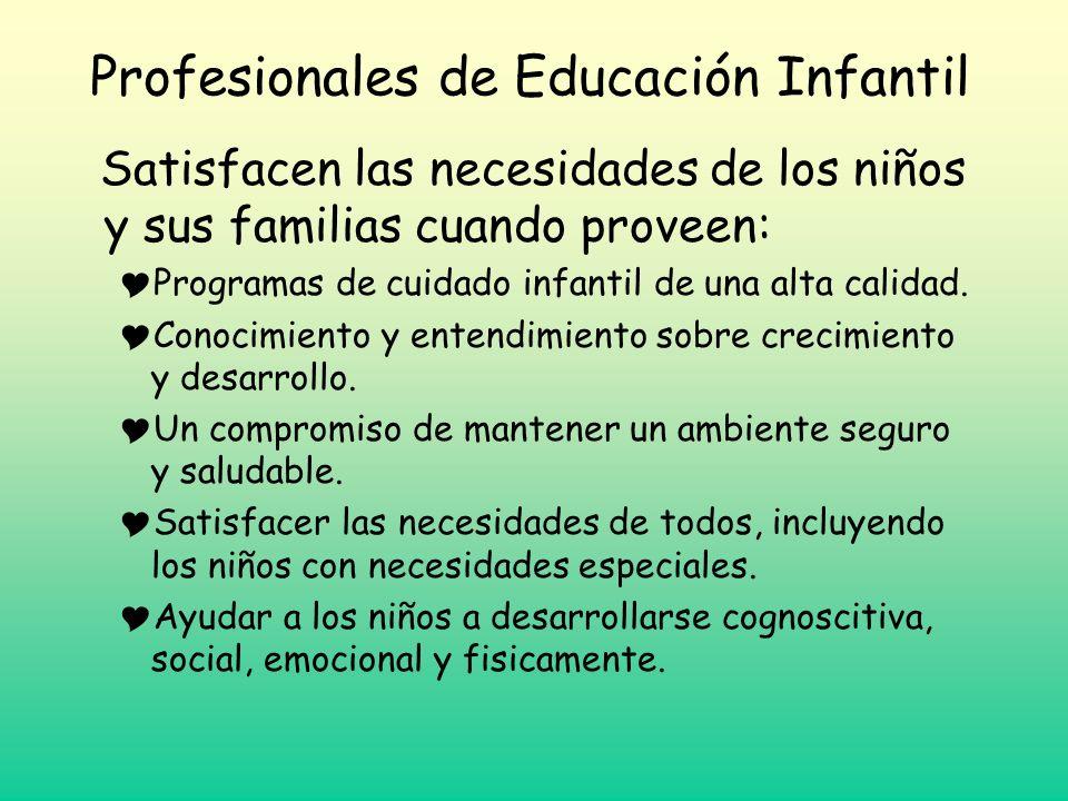 Profesionales de Educación Infantil