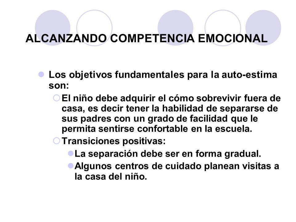 ALCANZANDO COMPETENCIA EMOCIONAL