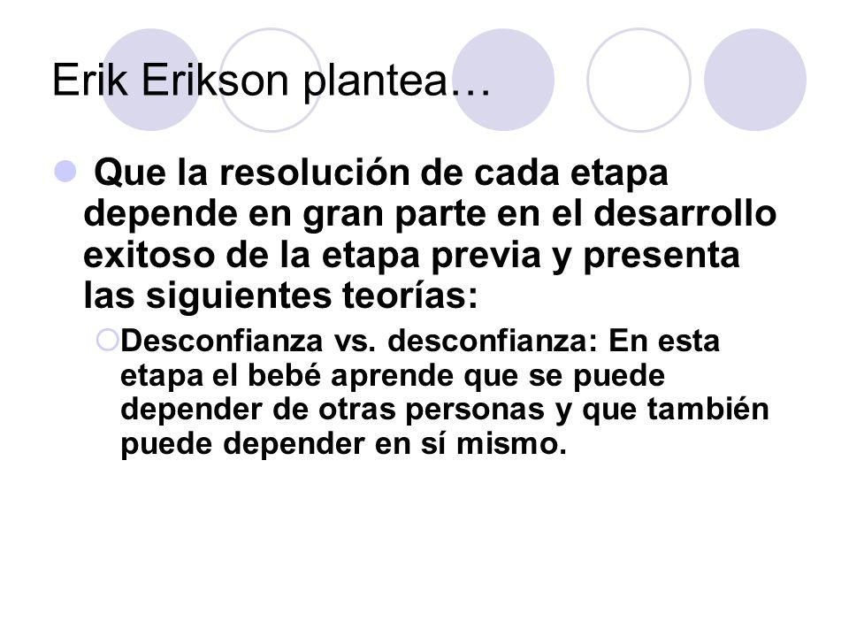 Erik Erikson plantea…