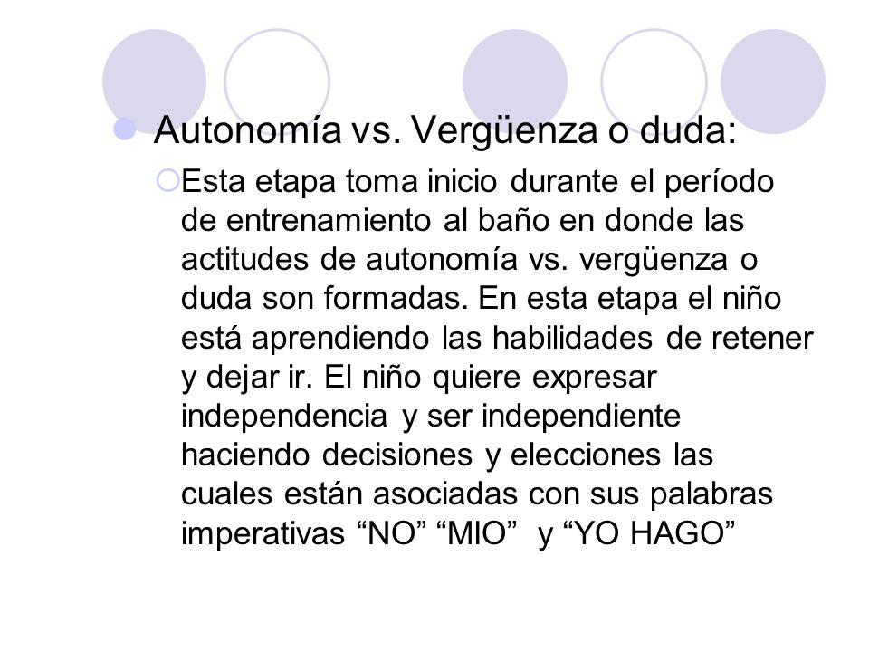 Autonomía vs. Vergüenza o duda: