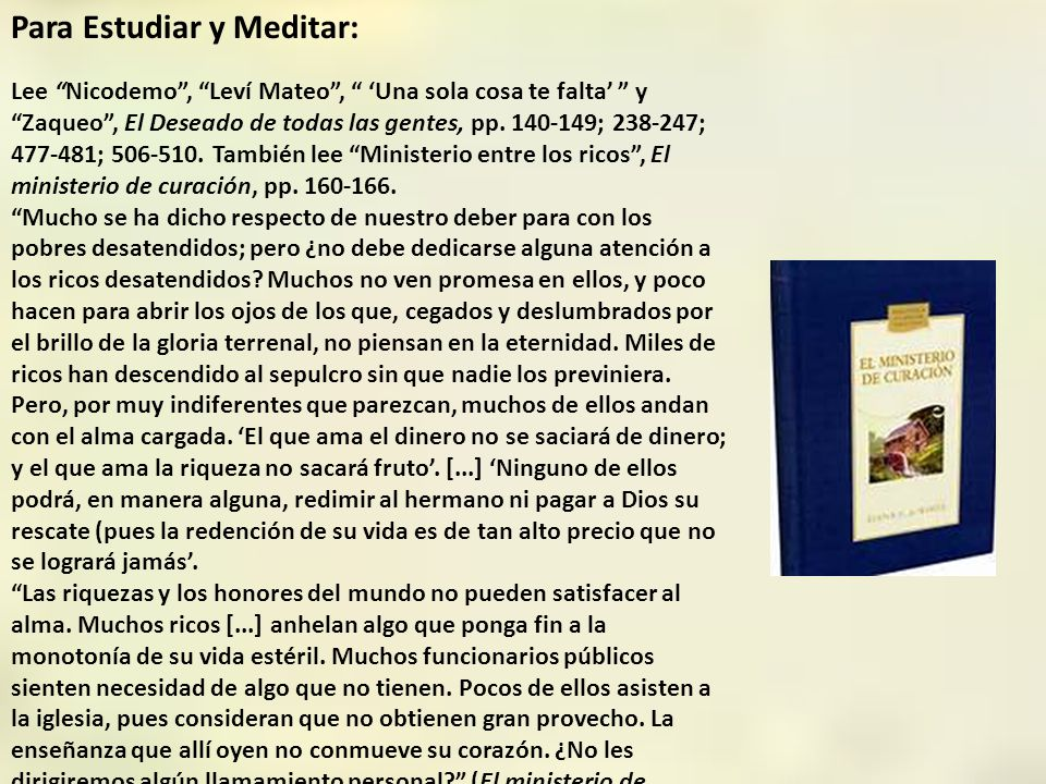 Para Estudiar y Meditar: