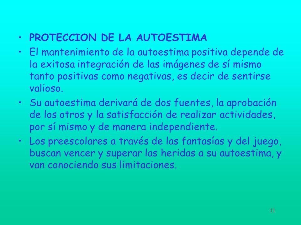 PROTECCION DE LA AUTOESTIMA