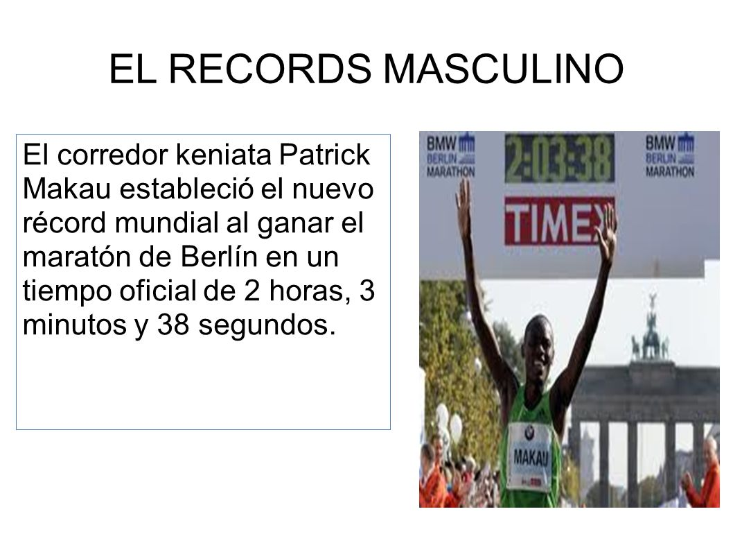 EL RECORDS MASCULINO