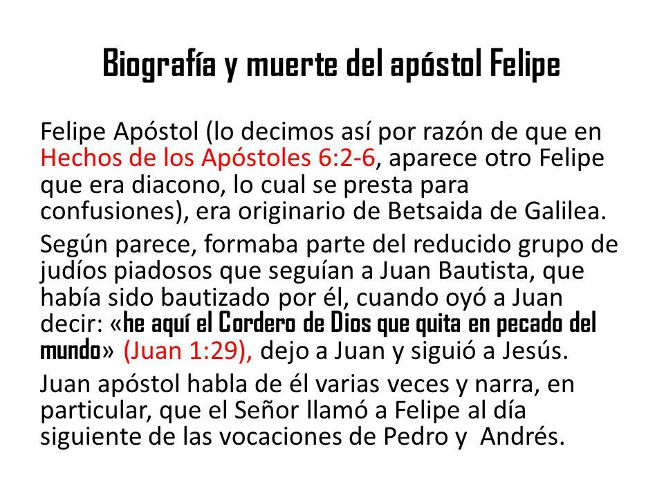 Biografía y muerte del apóstol Felipe