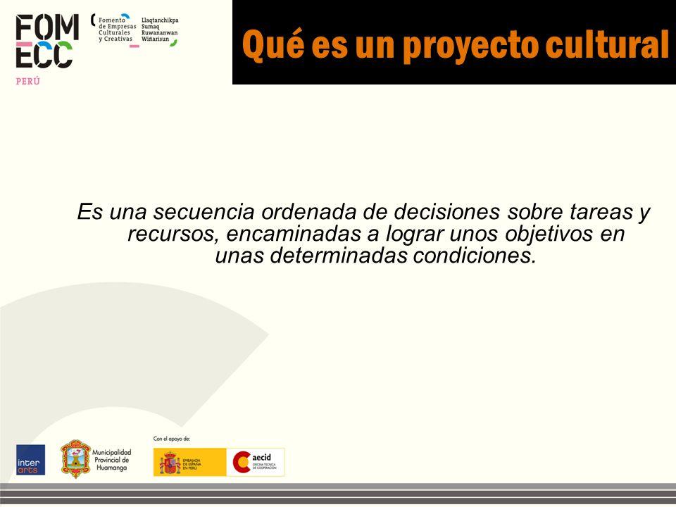 Qué es un proyecto cultural