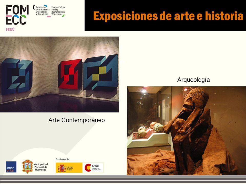 Exposiciones de arte e historia