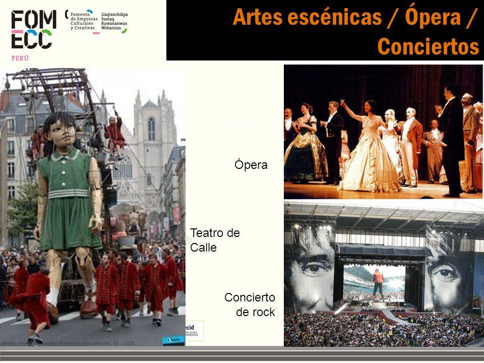Artes escénicas / Ópera / Conciertos