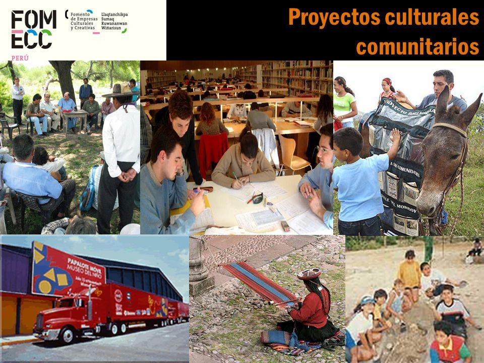 Proyectos culturales comunitarios