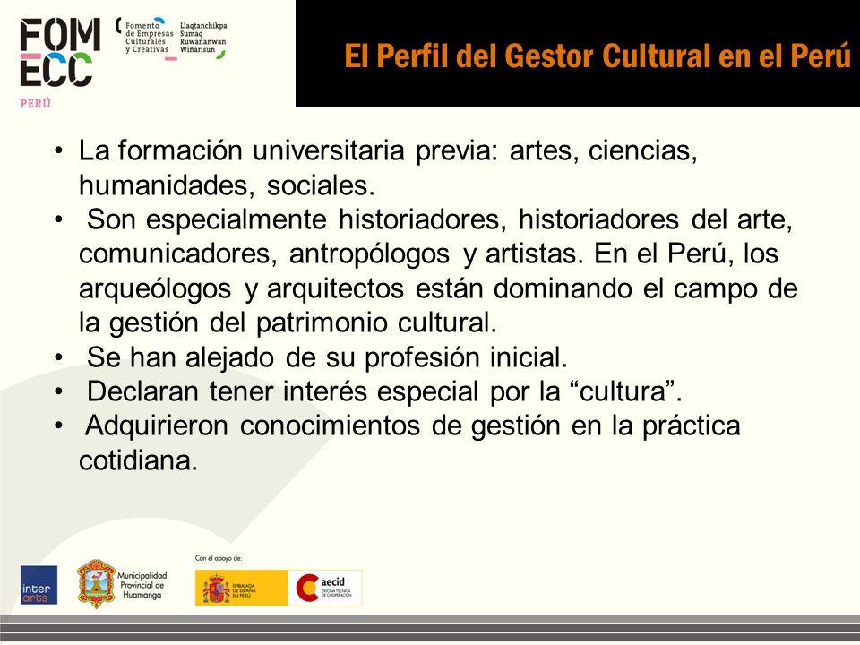 El Perfil del Gestor Cultural en el Perú