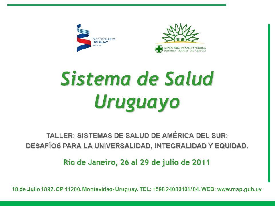 Sistema de Salud Uruguayo Río de Janeiro, 26 al 29 de julio de 2011
