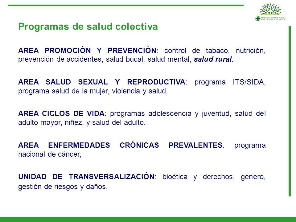 Programas de salud colectiva