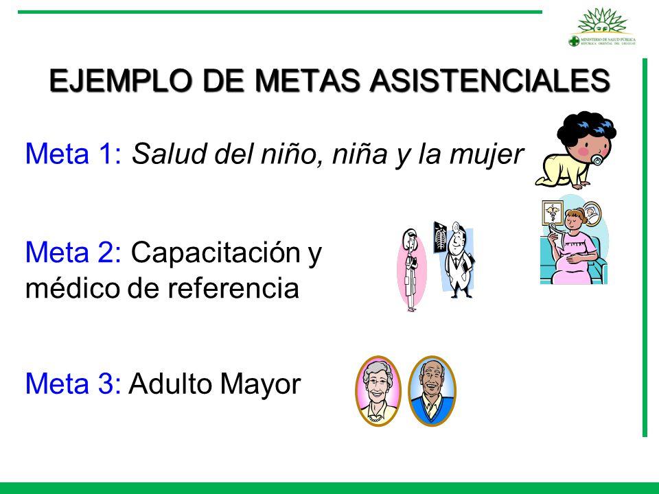 EJEMPLO DE METAS ASISTENCIALES