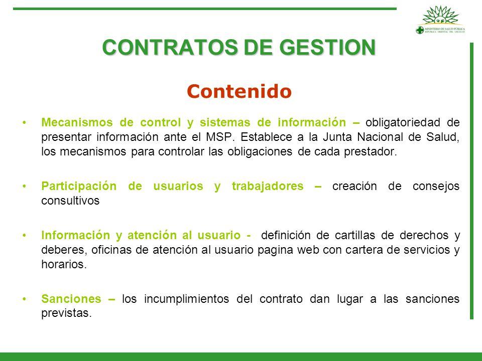 CONTRATOS DE GESTION Contenido