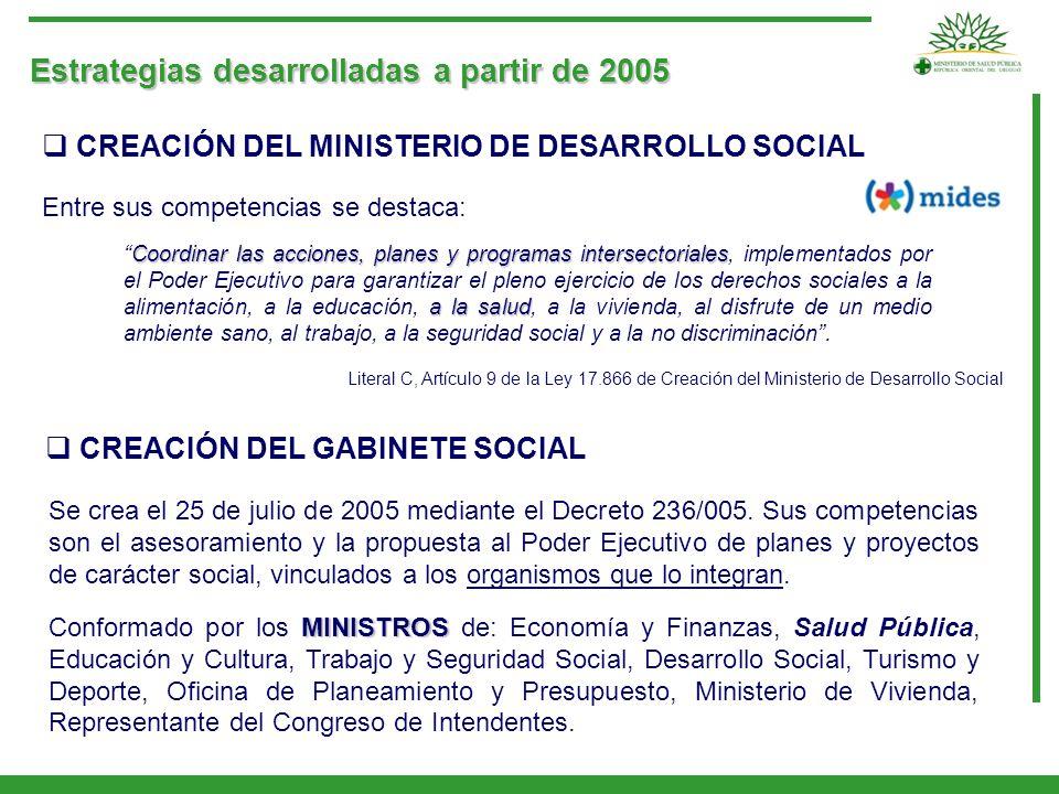 Estrategias desarrolladas a partir de 2005