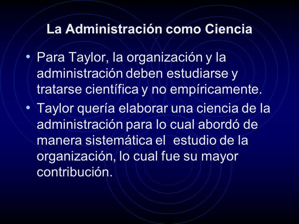 La Administración como Ciencia