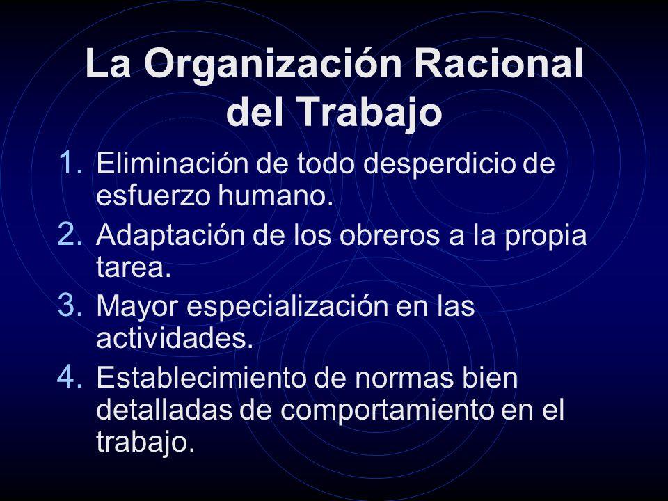 La Organización Racional del Trabajo