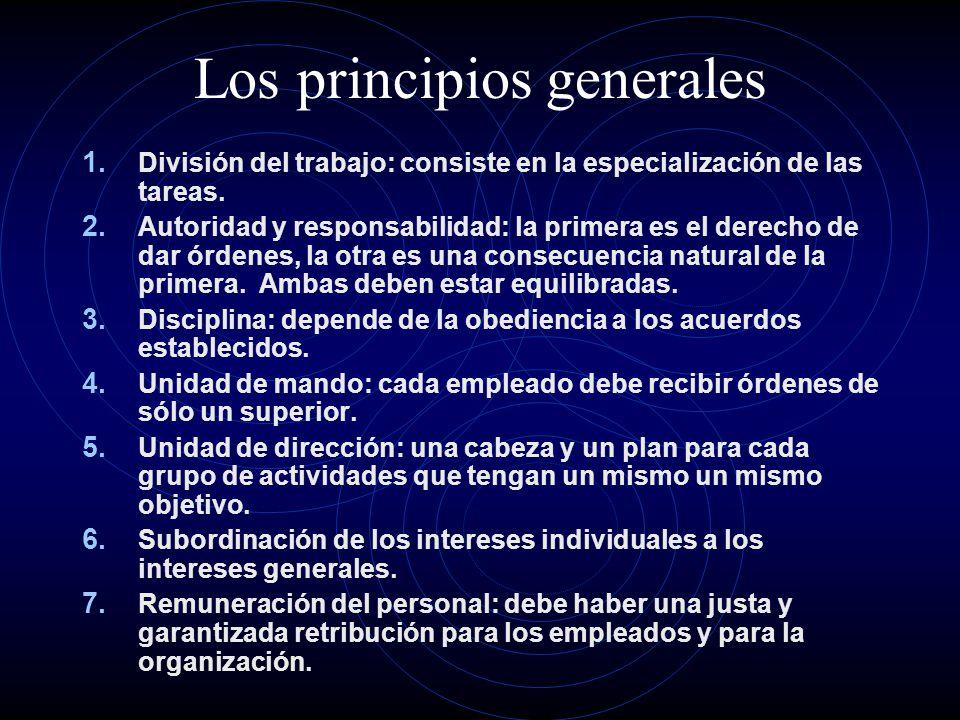 Los principios generales