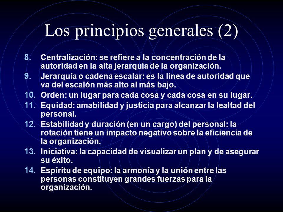 Los principios generales (2)