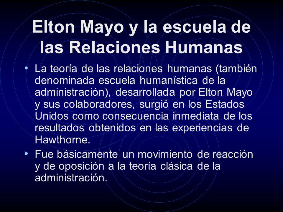 Elton Mayo y la escuela de las Relaciones Humanas