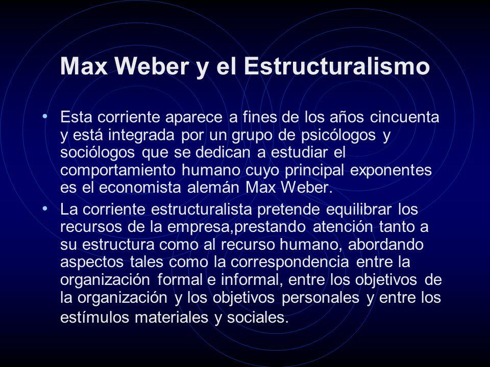Max Weber y el Estructuralismo