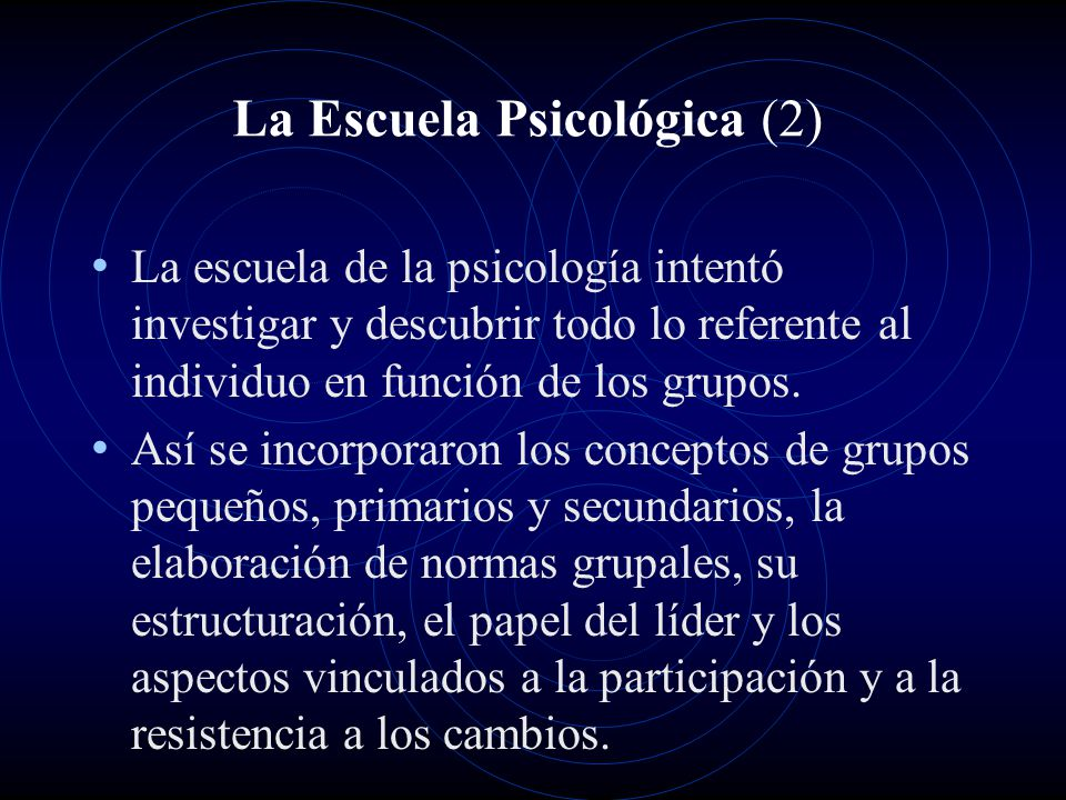 La Escuela Psicológica (2)
