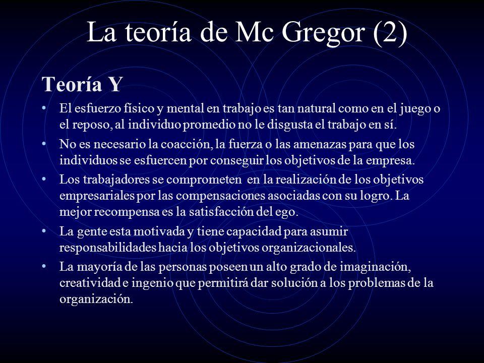 La teoría de Mc Gregor (2)