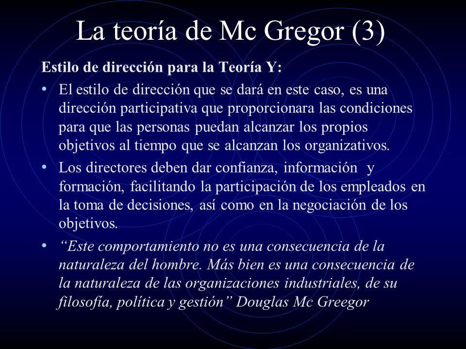 La teoría de Mc Gregor (3)