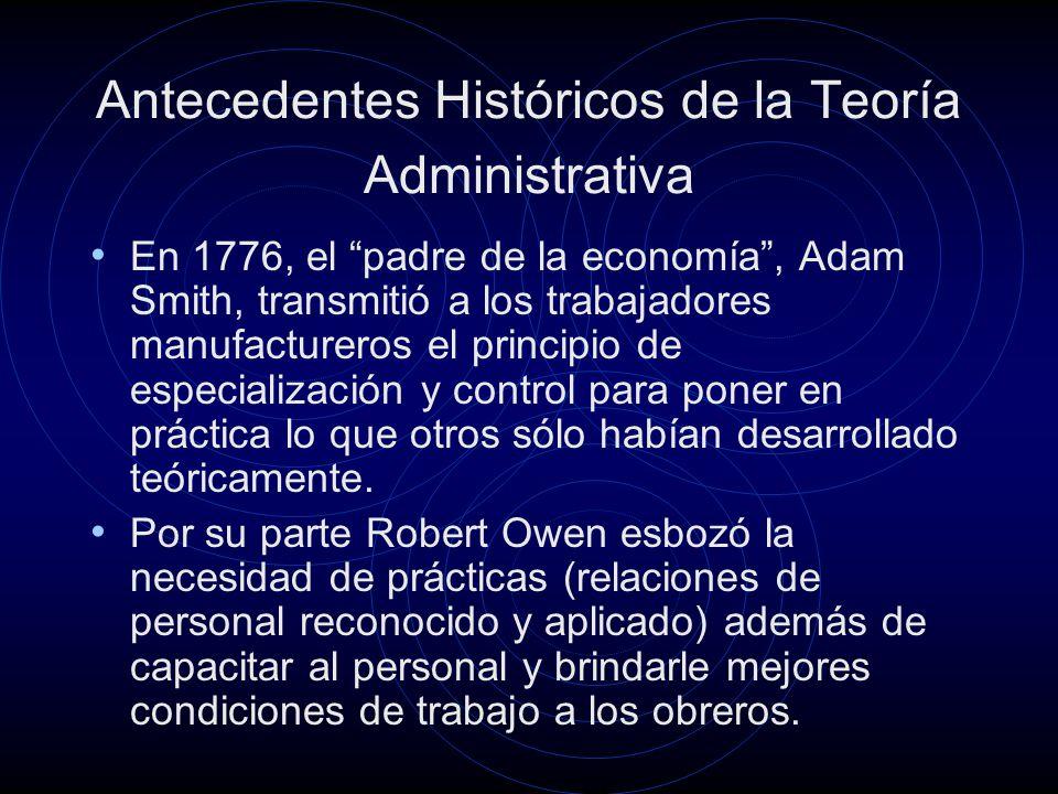 Antecedentes Históricos de la Teoría Administrativa