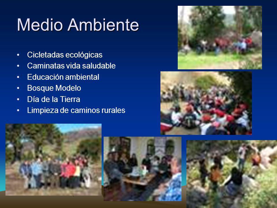 Medio Ambiente Cicletadas ecológicas Caminatas vida saludable