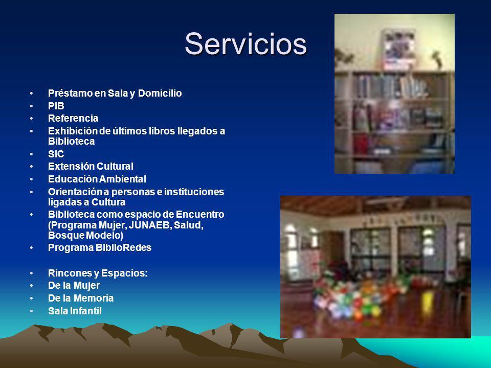 Servicios Préstamo en Sala y Domicilio PIB Referencia
