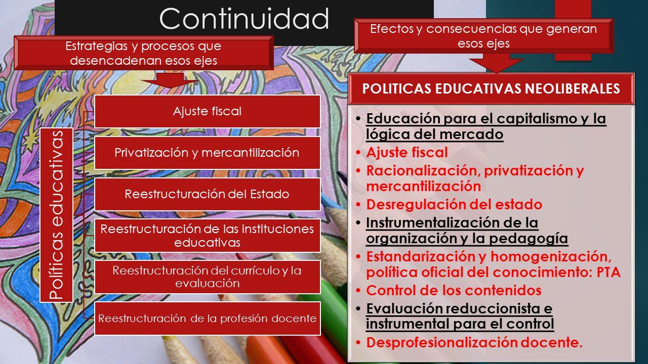 POLITICAS EDUCATIVAS NEOLIBERALES